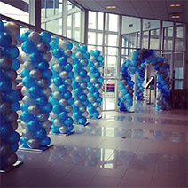 Blue and Silver Balloons, Rick's Balloon Creations