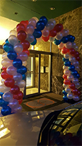 Red, White and, Blue Arch, Rick's Balloon Creations