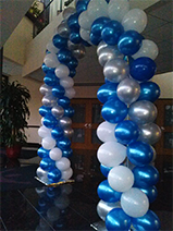 Blue and Silver Arch, Rick's Balloon Creations