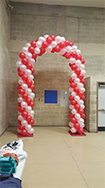 Red and White Arch, Rick's Balloon Creations